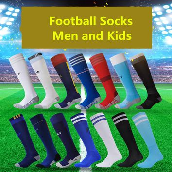 Flybomb Famous European Clubs and Countries Styles Children Football Socks Boys Soccer Sock Kid's Sports Long Thicken Mens' Sock