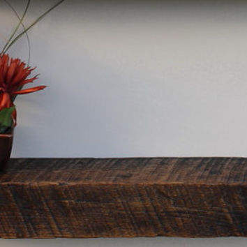 Reclaimed Wood Floating Shelf   Re-purposed   Up-Cycled   Home Decor  Rustic