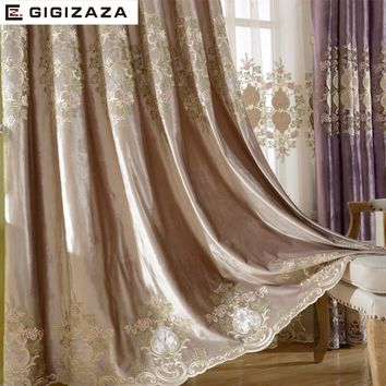 Luxury Velvet Embroidery Curtains