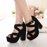 Women Sandals Open Toe Summer Style Ladies Shoes Women Platform Sandals Thick High Heel Sandals Women Shoes #ssw668-9