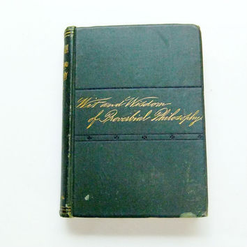 Rare First Edition 1884 Book Wit and Wisdom of Proverbial Philosophy Odd Comparisons Book Lovers Gift