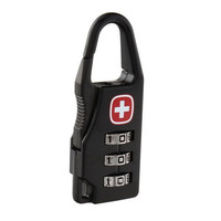 New Resettable 3 Digit Combination Safe Travel Luggage Suitcase Code Lock Black