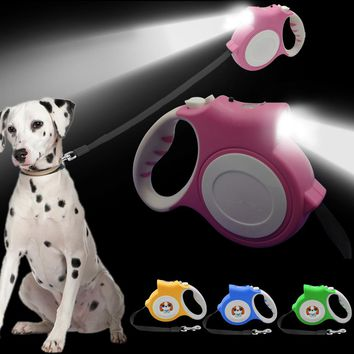 4.5M Retractable Dog Leash With Bright Flashlight