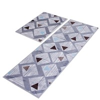2pcs Anti-slip Kitchen Mat Carpet Area Rugs Soft Flannel Entrance Doormat Bathroom Floor Mats 40*60cm + 40*120cm
