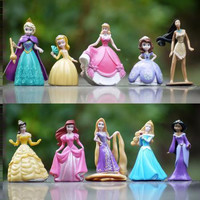 2015 New 10pcs/set New Princess Elsa Rapunzel Sofia etc Action Figures Kids Toys Girls Gift Free Ship hot sales