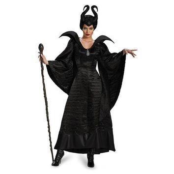 ICIKHY9 New arrival!!high-quality Sleeping curse costumes,Adlut Maleficent Cosplay halloween Costumes,female witch cosplay