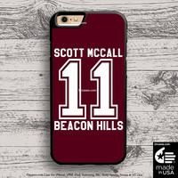Teen Wolf Scott Mccall case for iphone 5s 6s case, samsung, ipod, HTC, Xperia, Nexus, LG, iPad Cases