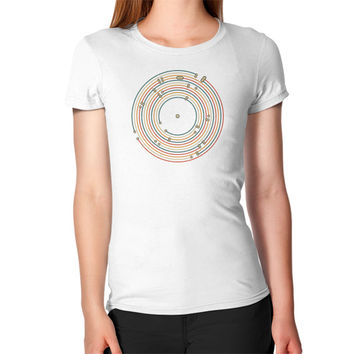 Vinyl music metro record map labyrinth Women's T-Shirt