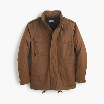 J.Crew Mens Wallace & Barnes Waxed Cotton M-65 Jacket