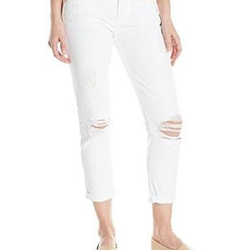 7 For All Mankind Women's Josefina Boyfriend Jean In Clean White