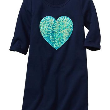 Gap Girls Factory Sequin Graphic Dress