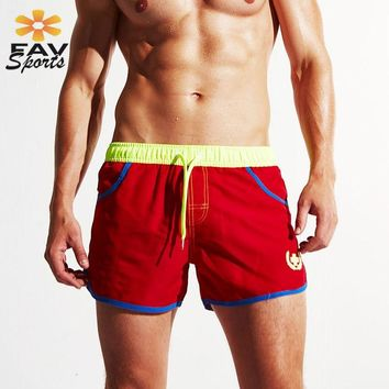 Summer Beach Shorts Quick Dry Swimming Pants For Mens Surf Board Trunks Elastic Running Sports Joggers