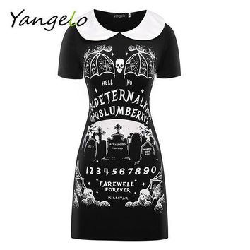Harajuku Dress Punk Black Furious Faith Dress Gothic 2016 New