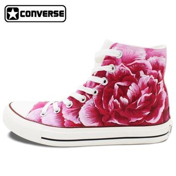 roses painted converse