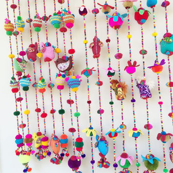 Doll Beads Curtain For Home Decoration (Window)