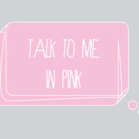 Talk to Me in Pink! [Speech Bubbles Graphics Set] Personal and Commercial Use