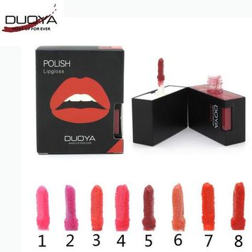 DCCKWQA DUOYA Brand Makeup Velvet Matte Lip Gloss Dual Lip and Cheek Batom Liquid Lipstick Maxi Soft Lip Gloss Beauty Korean Cosmetics.