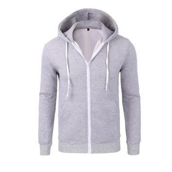 Men's Fashion Cotton Zippers Hoodies Hats Casual Jacket [10669398659]