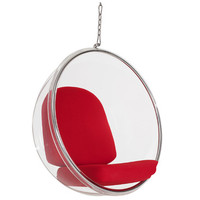 Modway Ring Lounge Chair in Red