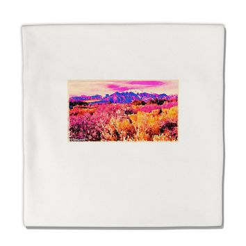 "Colorful Colorado Mountains Micro Fleece 14""x14"" Pillow Sham by TooLoud"