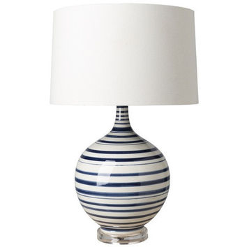 Parker Blue Striped Lamp