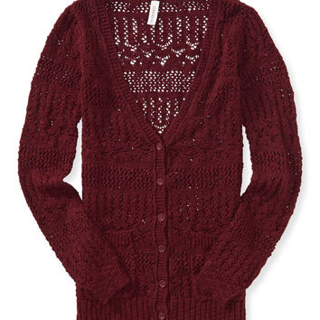 Open-Knit Boyfriend Cardigan