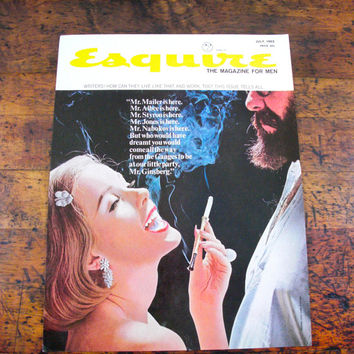 Vintage Esquire Magazine Cover, Original Cover, Framed, 1960s, Allen Ginsberg, July Issue, Mens Magazine