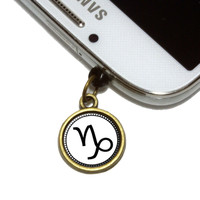 Zodiac Sign Capricorn Mobile Phone Brass Charm