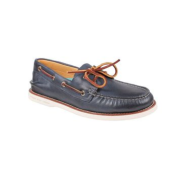 Men's Gold Cup Authentic Original Boat Shoe in Navy/White by Sperry