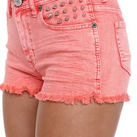 Kendall and Kylie High Rise Fray Acid Shorts at PacSun.com