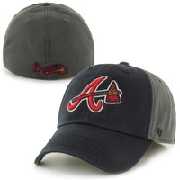Atlanta Braves '47 Brand Nightshade Franchise Fitted Hat – Gray