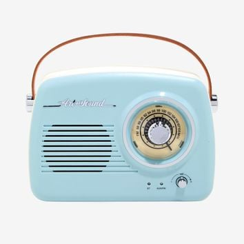 Blue Vintage Wireless Radio Speaker