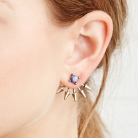 Spiked Faux Stone Ear Jackets