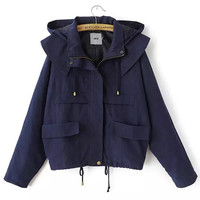 Burgez Fall Coat in Blue