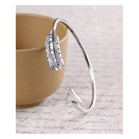Geranium Burnish Silver Arrow Bangle