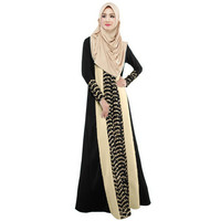 ukraine-fashion-women-muslim-maxi-dress-contrastcolor-patchwork-long-sleeve-abaya-kaftan-islamic-indonesia-robe-long-dress BBL