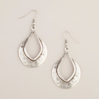 HAMMERED SILVER TEARDROP EARRINGS