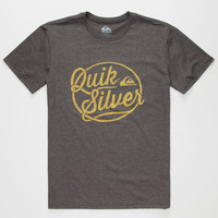Quiksilver Go Team Go Mens T-Shirt Dark Gray  In Sizes