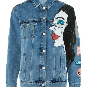 MOTO Premium Painted Denim Jacket | Topshop