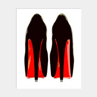 RED BOTTOMS ART PRINT