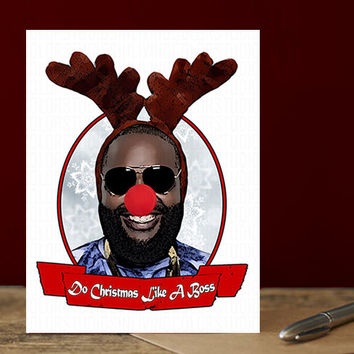Rick Ross Christmas Card. Funny Christmas Card. Christmas Card Funny. Handmade Christmas. Christmas Gifts. Cute Boyfriend Christmas Cards.