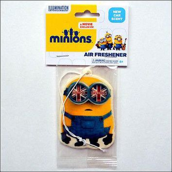 Despicable Me Minions British UK Invasion Auto New Car Smell Scent Air Freshener