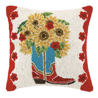 Sunflower Boot Pillow 18X18""