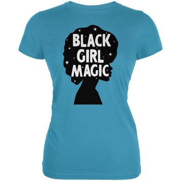 DCCKU3R Black History Month Black Girl Magic Afro Juniors Soft T Shirt