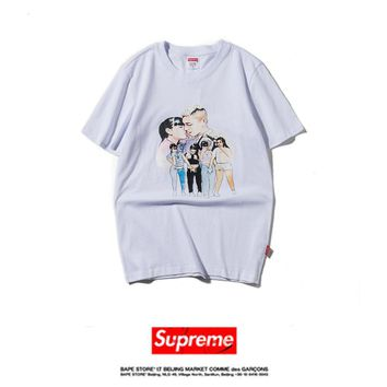 Cheap Women's and men's supreme t shirt for sale 85902898_0105