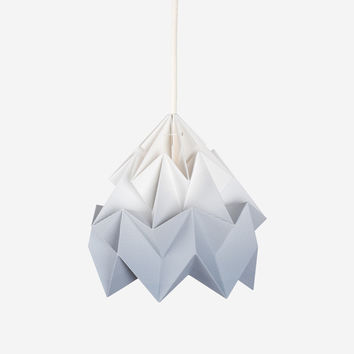 Moth Paper Origami Lamp – Gradient Grey