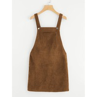Mudslide Overall Dress - Brown