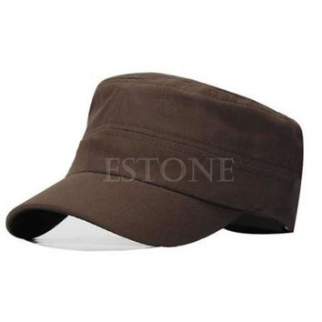 New Adjustable Cadet Style Cotton Cap Hat Classic Plain Vintage Army Hat Free Shipping