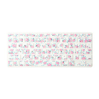 Pink Floral Print Silicone MacBook Keyboard Cover