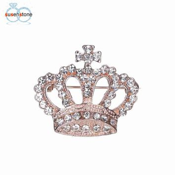 Rhinestone Brooch Crown